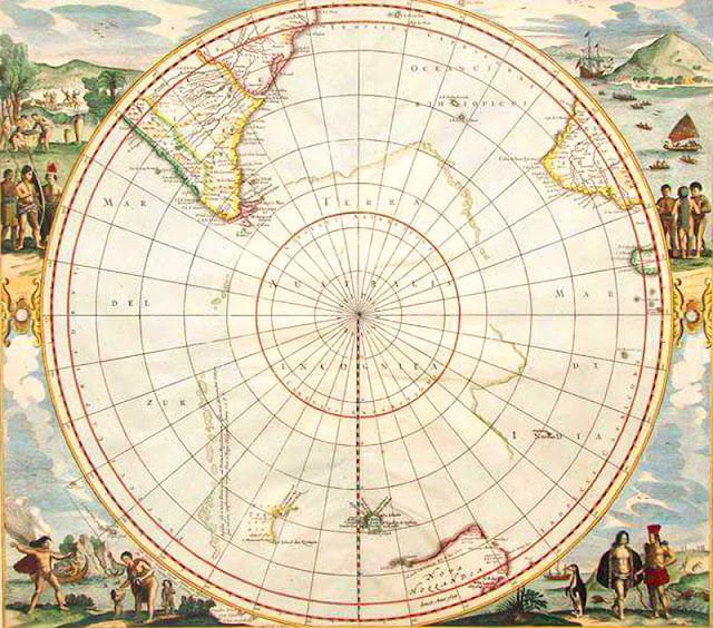 Gambar Peta Antartika Kuno abad ke-19