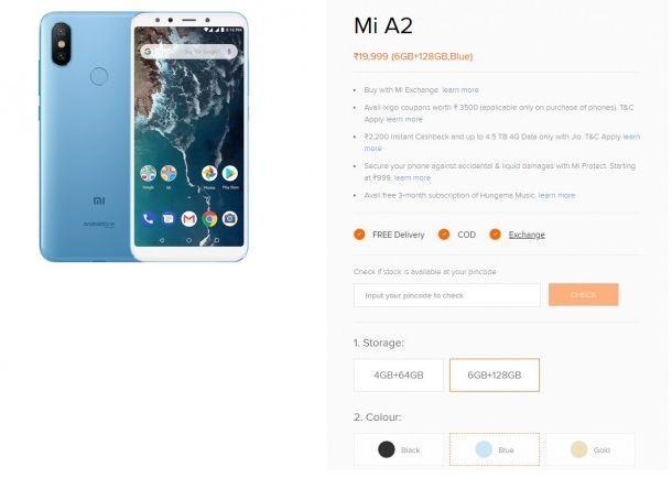 Xiaomi Mi A2 dengan memori 6GB / 128GB akan segera hadir di Indonesia