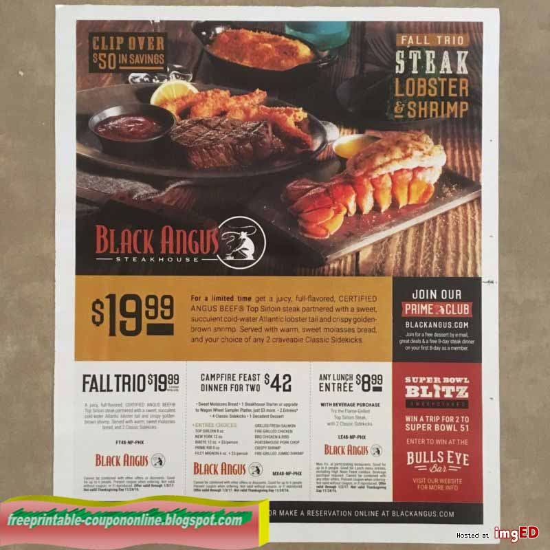 picture relating to Printable Wienerschnitzel Coupons named Black angus printable coupon codes 2018 : Brand name Discount coupons