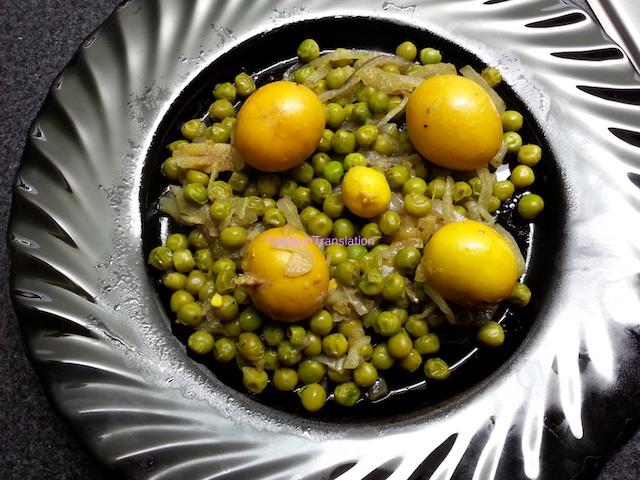 Uova non nate ai piselli - Unborn eggs with peas