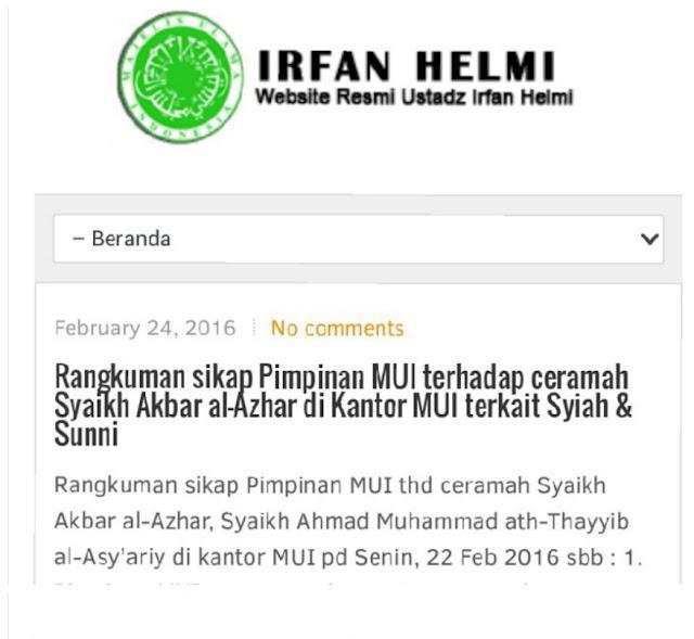 Ketika MUI ditunggangi Wahhabi/muslimoderat.com
