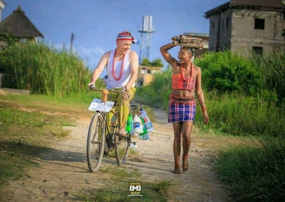 Aww.. Check these pre-wedding photos of an Igbo woman and her white partner