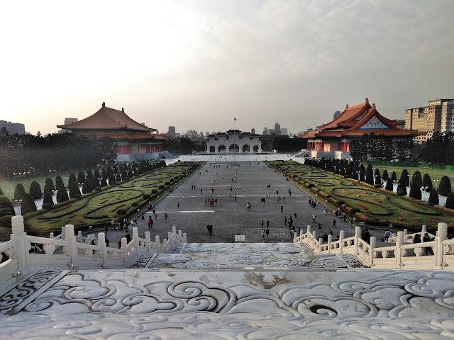 chiang kai shek memorial complex taipei taiwan