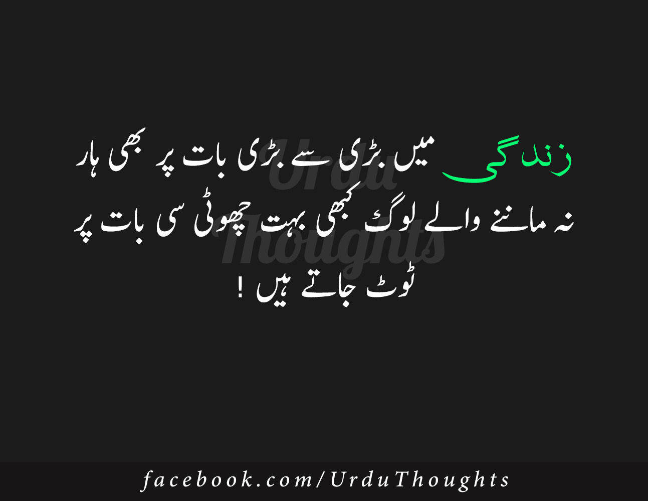 9+ Beautiful Quotes On Zindagi in Urdu Images - Urdu Thoughts
