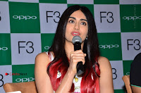 Bollywood Actress Adah Sharma Pos in White Printed Short Dress at OPPO F3 Plus Selfie Expert Mobile Launch .COM 0070.jpg