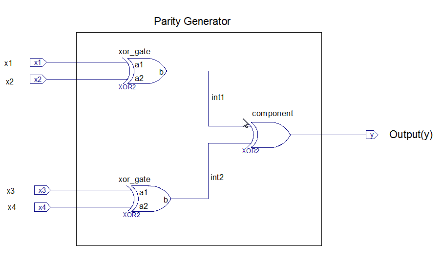 parity generator schematic