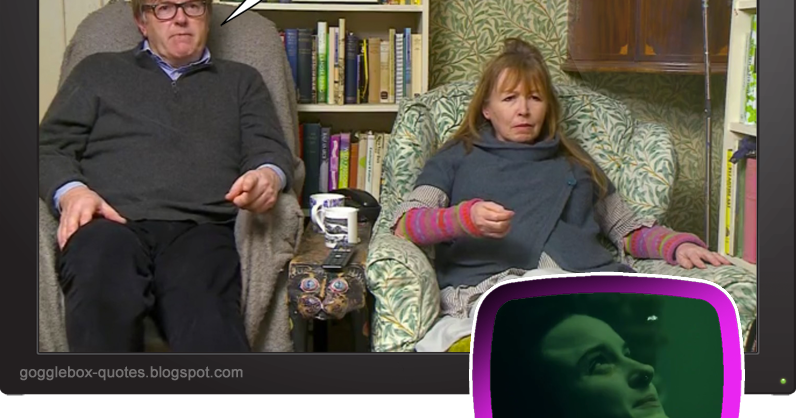 Gogglebox Quotes : Series 13 Episode 2 - Giles & Mary on 'Baptiste'