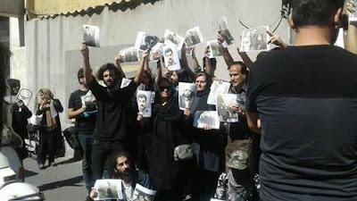 تجمع احتجاجي مقابل برلمان النظام الإيراني يطالب بالإفراج عن «سهيل عربي
