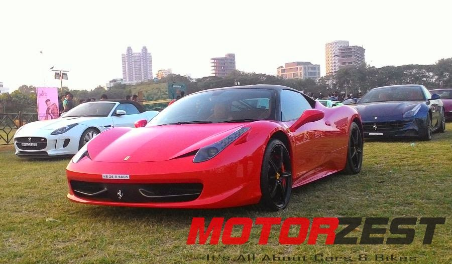 Ferrari at 2015 Parx Super Car Show in Mumbai