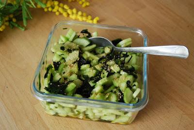 salade concombre-wakamé