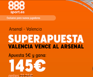 888sport superapuesta Europa League Valencia gana Arsenal 2 mayo 2019