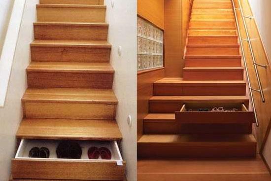 Invenções mais interessantes do mundo - Escadarias com gavetas embutidas