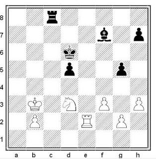Posición de la partida Karl Janetschek - Jesús Díez del Corral (Zonal de Barcelona, 1975)