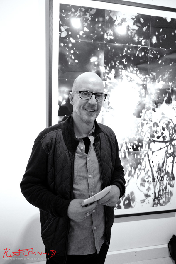 Artist Mark Hislop at the 'new' Wagner Contemporary