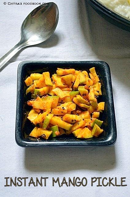 Instant raw mango pickle