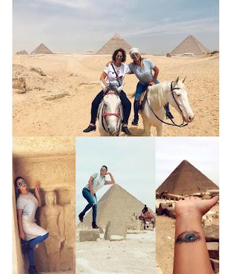بالصور.. ايمان العميري من الأهرامات: «نهاركم جميل من مصر ام الدنيا ❤️»
