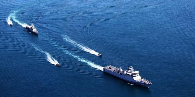 Peta kekuatan Angkatan Laut RI-Malaysia-Filipina Penjaga Perbatasan Maritim Ketiga Negara