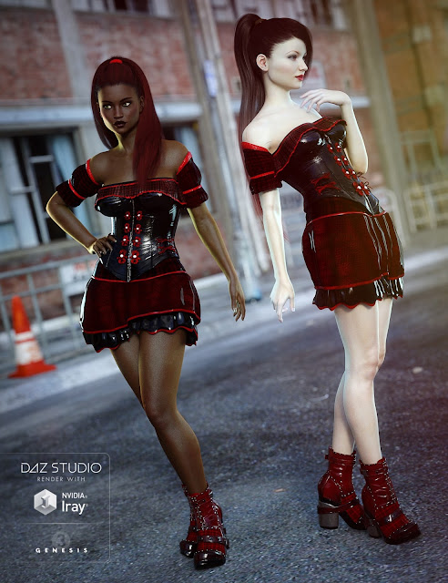 Gothic Punk for Genesis 3 Female