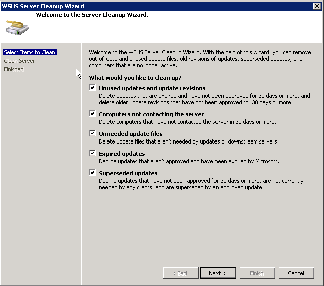 Powershell Script To Automatically Clean Up WSUS ~ Bauer