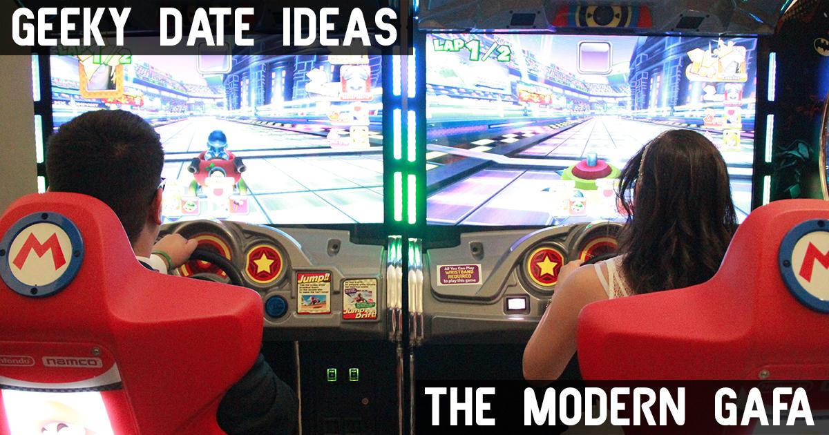 geeky date ideas mario kart arcade valentine's day