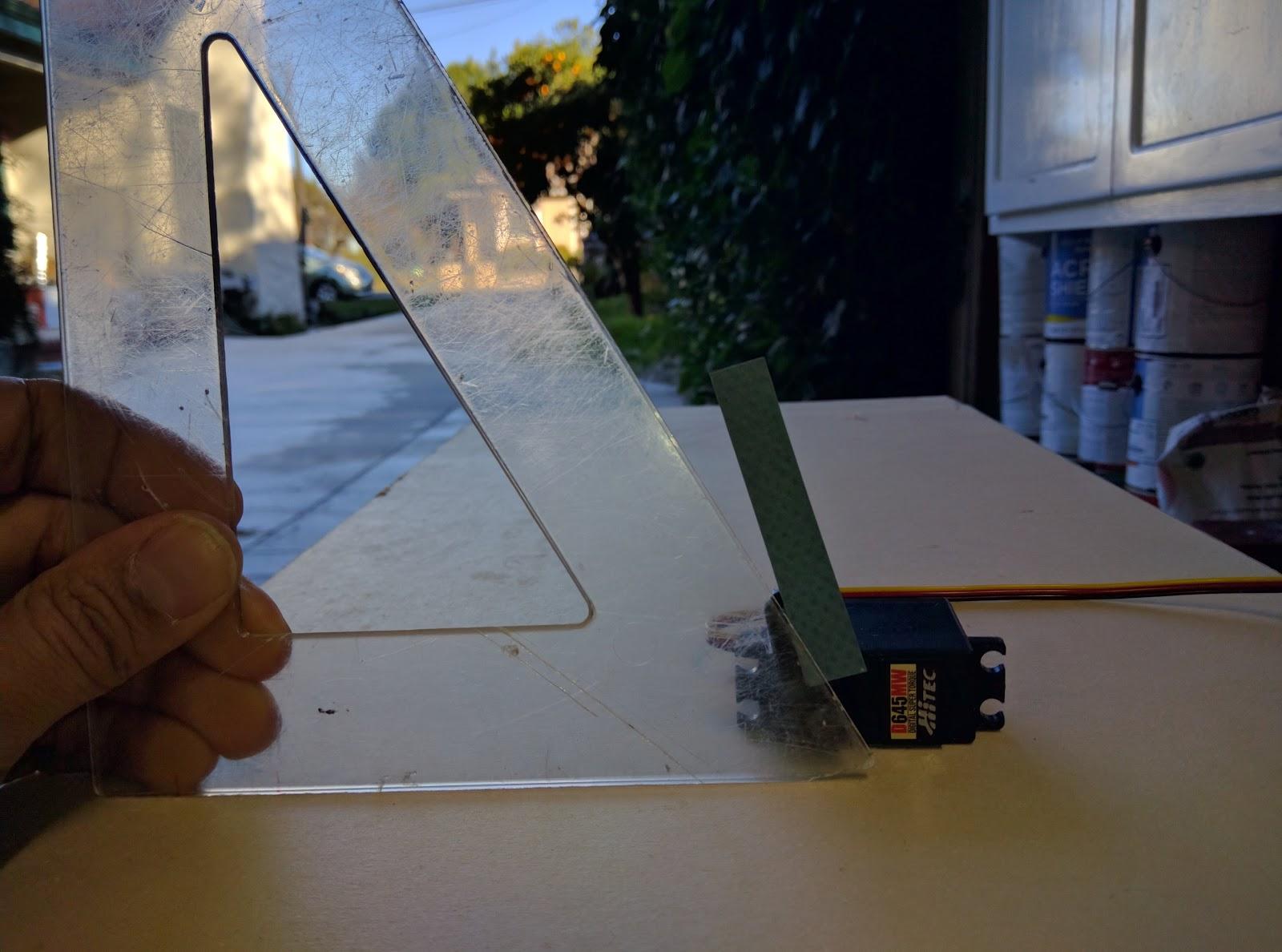Airball aero: Hobby servo accuracy is poor