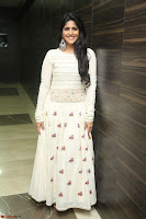 Megha Akash in beautiful White Anarkali Dress at Pre release function of Movie LIE ~ Celebrities Galleries 058.JPG
