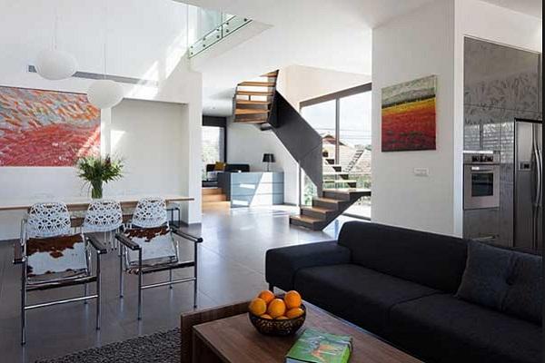 Model Desain Ruang Tamu Rumah Minimalis 2 Lantai