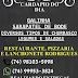 Confira o cardápio desta quarta no Restaurante, Pizzaria e Lanchonete Rodrigues