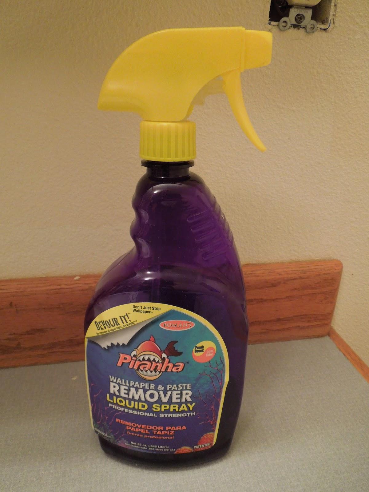 My Stuff Room / Galore-ious Stuff: Piranha = Wallpaper & Paste Remover Spray