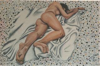Mujer desnuda, Jorge Marín, artista, Jorge A. Marin