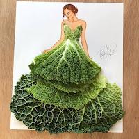 Arte con collage de comida - verdura