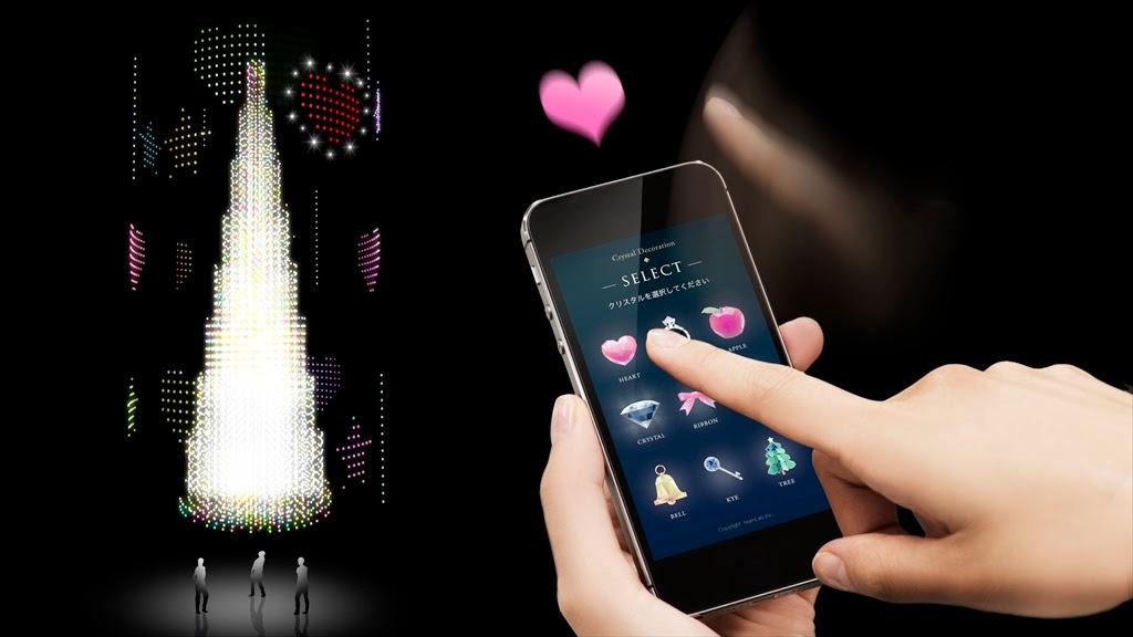 8eab7034dd スマートフォンのブラウザからアクセスし、用意されたオーナメントの中から、気に入ったものを一つ選ぶことができます。『クリスタルツリー2014』に向けてスワイプ  ...