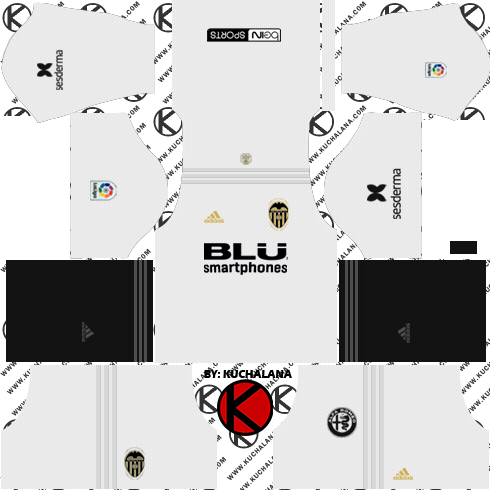 Valencia CF 2018/19 Kit - Dream League Soccer Kits