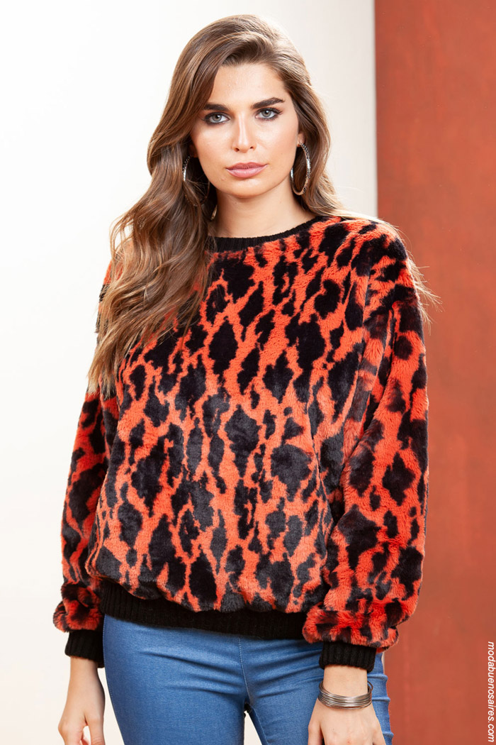 Sweaters animal print invierno 2019 ropa de mujer.