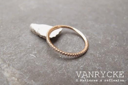 Bague or rose diamants Vanrycke bijoux Officiel