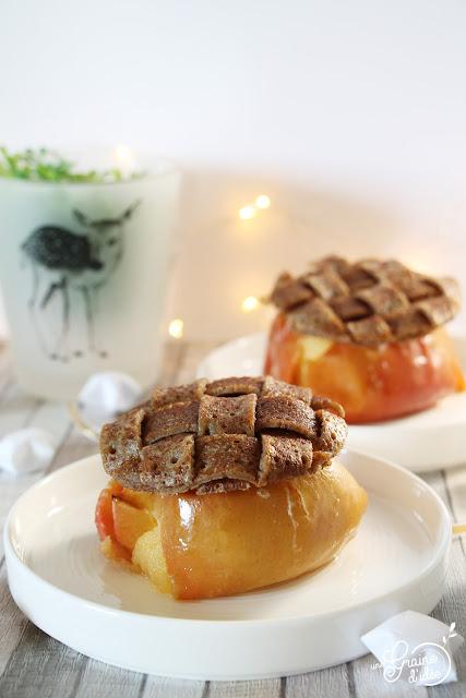 Pomme au four Roquefort Blé Noir Galette Recette Pommes