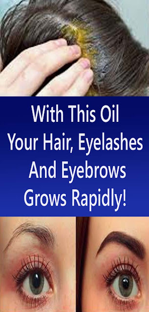 With This Oil Your Hair, Eyelashes And Eyebrows Grows Rapidly!#NATURALREMEDIES