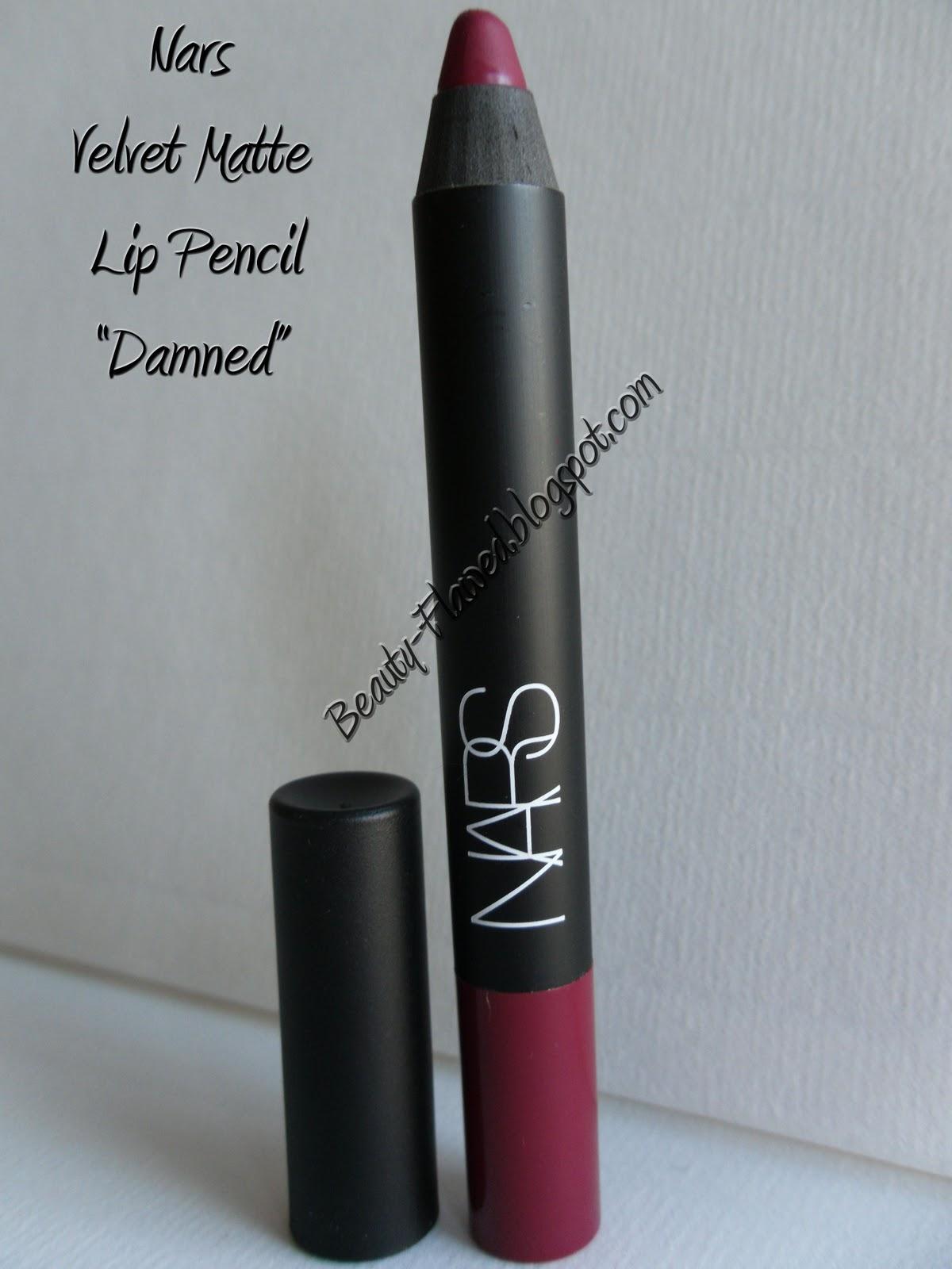 Velvet Lip Kits Velvet Liquid Lipsticks: Nars Velvet Matte Lip Pencil In Damned
