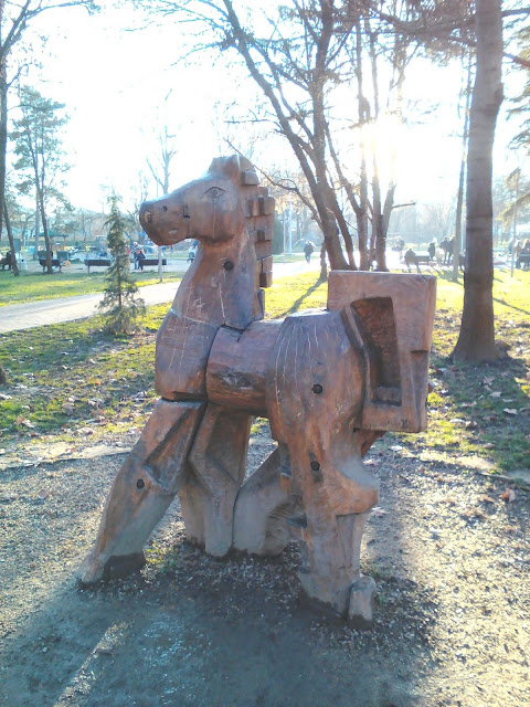 Wooden Horse, Yambol City Park