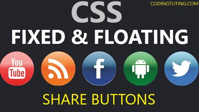 CSS Floating Social Media Share Button