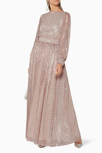 Light-Pink Embellished Gown 1950 AED