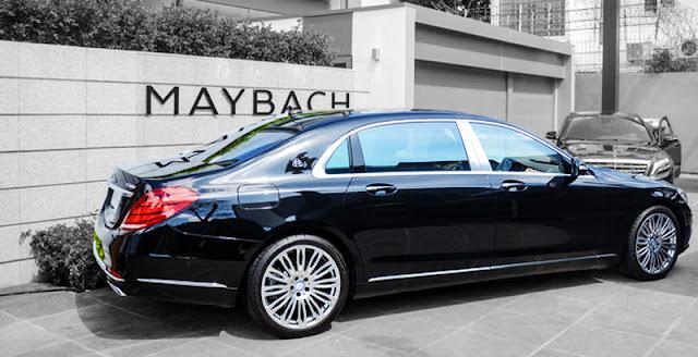 Phần hông Mercedes Maybach S560 4MATIC 2018 được trang bị rất nhiều tính năng nổi bật