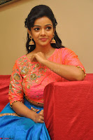 Nithya Shetty in Orange Choli at Kalamandir Foundation 7th anniversary Celebrations ~  Actress Galleries 118.JPG