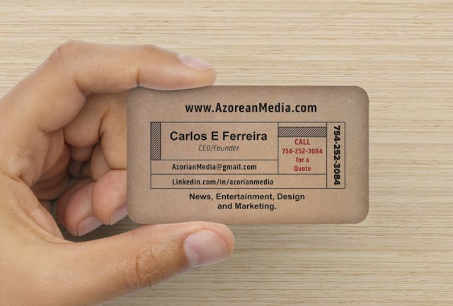Azorian Media Business card