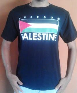 Kaos palestina desain bendera