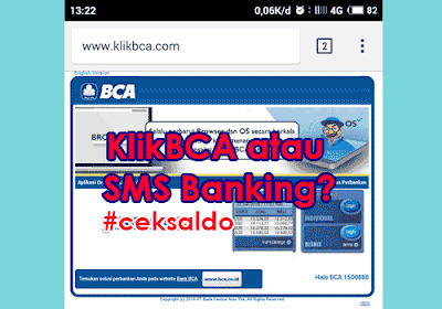 2 Cara Mengecek Saldo ATM BCA Lewat Hp Klik BCA & Via SMS
