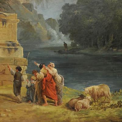 Hubert Robert : Les bergers d'Arcadie, détail - Musée de Valence