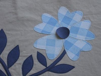 Vliesofix applicatie bloem