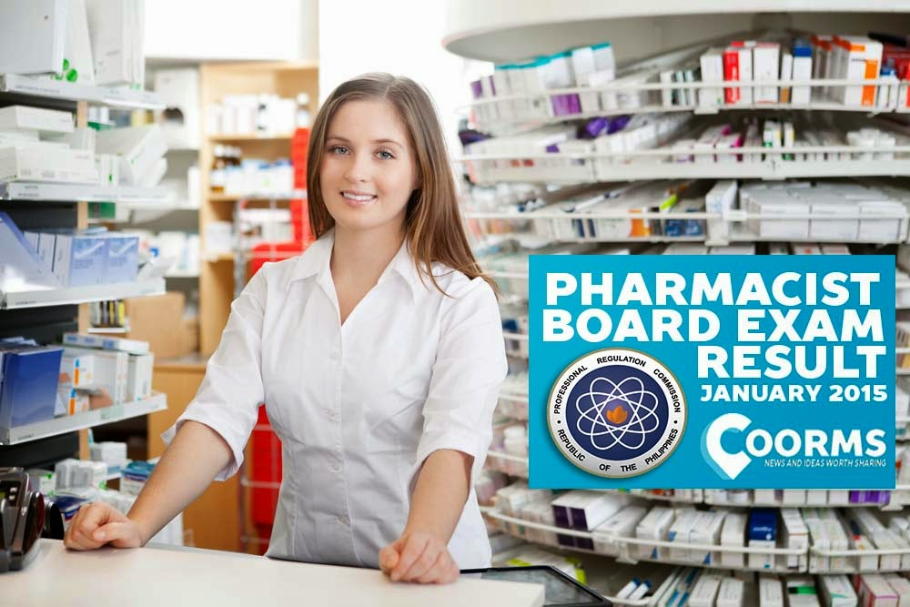 Pharmacists Board Exam List of Passers Results January 2015