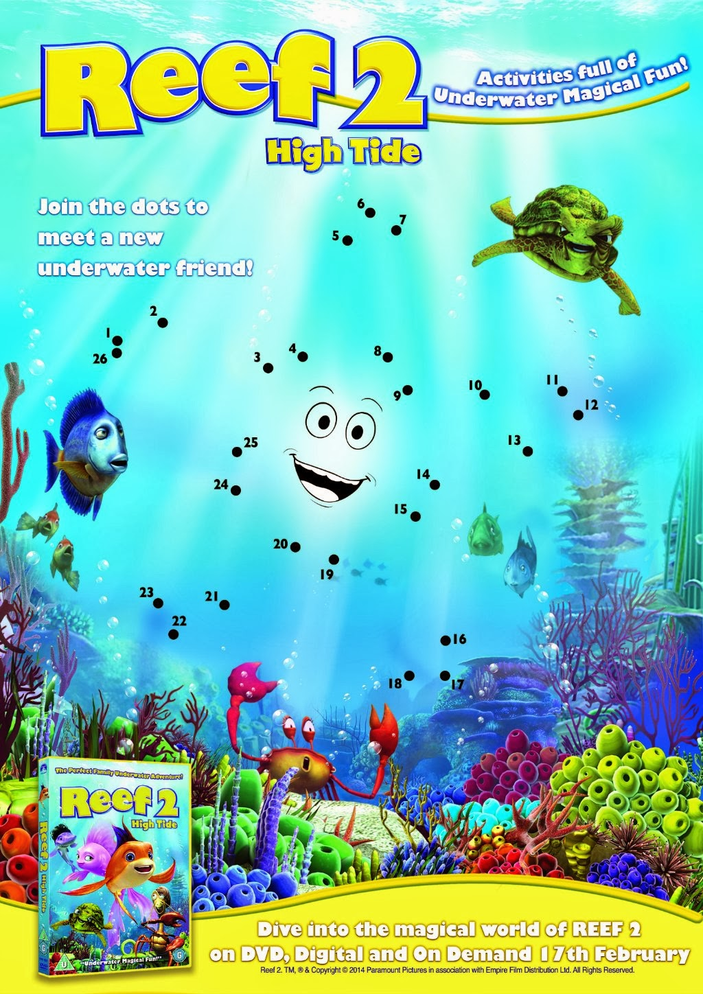 Reef 2, Half Term animations, Reef 2 activity sheets